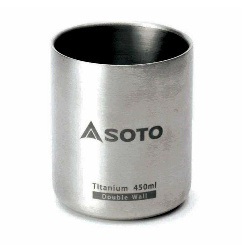 SOTO Titanium Double Cup Wall Mug Cup Double Aeromug 450mL 5fe4a5