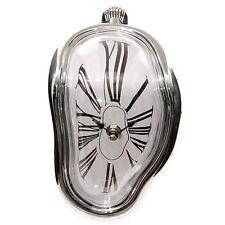 Fusión Reloj Plata marco Números Romanos Estante Sitter Salvador Dali Tipo