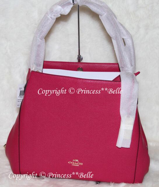 10ffb9c3e6 Coach 36464 Edie 31 Pebbled Li/cerise Leather Shoulder Bag for sale ...