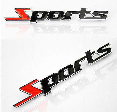 Sports Word letter 3D Chrome metal Car Sticker Emblem Badge Decal Auto topsale