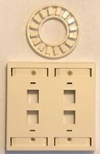 Lot of 80 AMP 558088-1 Keystone Faceplate Kit 4 Port Almond $0.50 Each