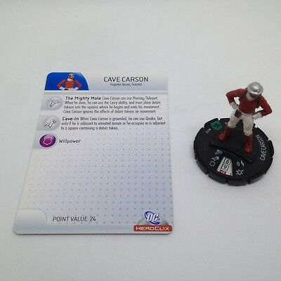 Heroclix The Brave and the Bold set Cave Carson #022 Uncommon figure w//card!