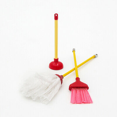 1:12 Dolls House Miniature Cleaning Small broom Tools Decor Accessorie Mini D3V5