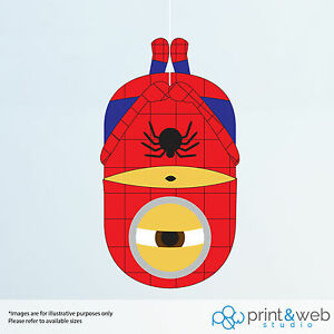 Image Is Loading Minion Spiderman Wall Decal Sticker Bedroom Vinyl Kids