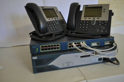 CISCO CCNA CCNP VOICE LAB 2821 256D//128Flash CME 8.6 IOS 15.1 VOIP 7940G
