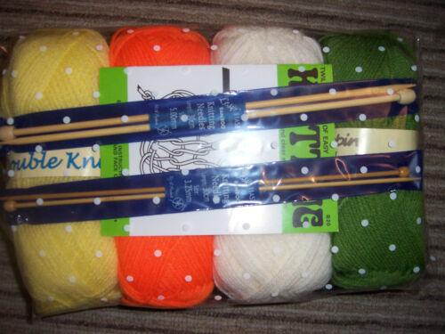 de regalo envuelto * Libro /& Ovillos De Lana Agujas Adultos Starter Knitting Set