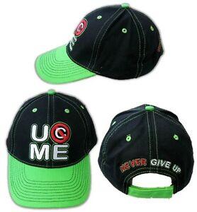 JOHN-CENA-Neon-Green-Never-Give-Up-Baseball-Cap-Hat