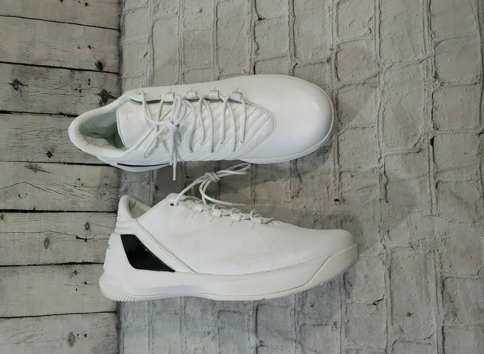 san francisco cec26 f9b62 UNDER ARMOUR Curry 3 Lux Low Basketball Shoes White Limited Release MENS  SIZE 13