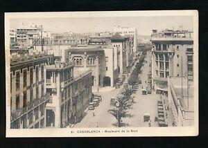 Morocco CASABLANCA Bouvevard de la Gare c1920/30s? PPC