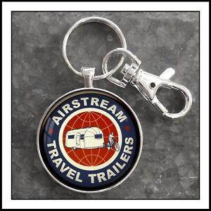 Airstream Travel Trailer Emblem Photo Keychain Key Chain  Gift 🎁 Free Shipping