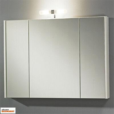 Zoll Spiegelschrank Dublin SPS 80 weiß Spiegeltüren Bad WC Schrank Spiegel NEU