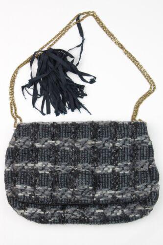 Handtasche Mit Grau Boucle Sparkle Tweed Blau Kettenriemen Clutch Lanvin gqw180S0