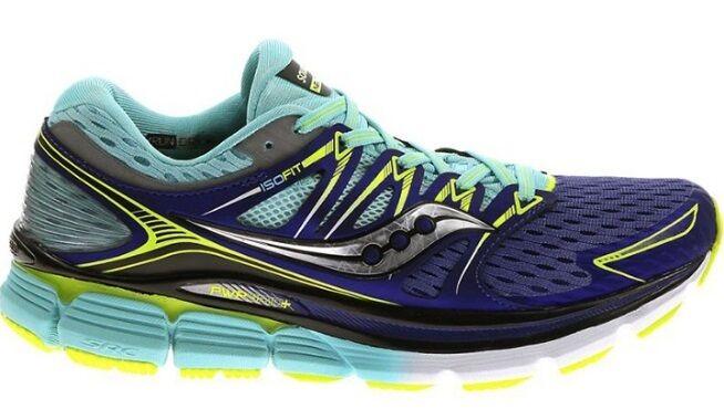 Saucony Triumph ISO pwrgrid réfléchissant Bleu Twilight Chaussures de course pour femme large 5