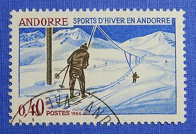 1966 Andorra French 40c Scott# 170 Michel # 196 Used Cs29180 Selling Well All Over The World Andorra Stamps