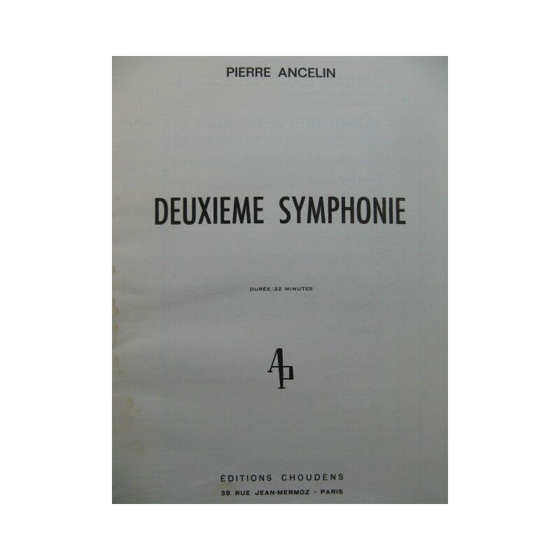 ANCELIN Pierre Deuxième Symphonie Orchestre 1965 partition sheet music score