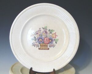 Image is loading Wedgwood-EDME-Borrowdale-Salad-Plates-Off-White-Colorful- & Wedgwood EDME Borrowdale Salad Plates Off White/Colorful Flower ...