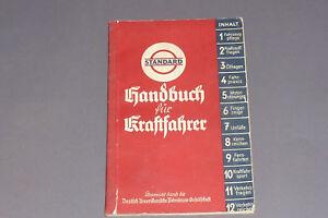 Altes-Standard-Oil-Handbuch-fuer-Kraftfahrer-1936-Auto-Oldtimer-Wartung-Verkehr