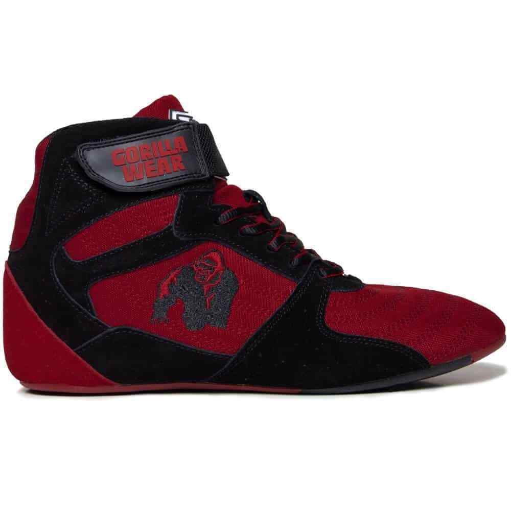 Gorilla Wear Perry High Tops Pro – Red Black  Bodybuilding Fitness 36 - 48