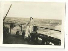 vintage young handsome teen boy gay interest posing on ship