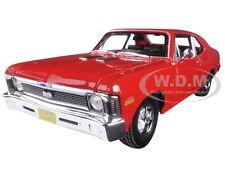 1970 CHEVROLET NOVA SS COUPE RED 1:18 DIECAST MODEL CAR BY MAISTO 31132