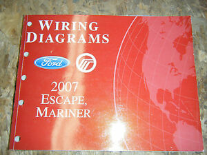 2007 FORD ESCAPE MERCURY MARINER ORIGINAL FACTORY WIRING ...