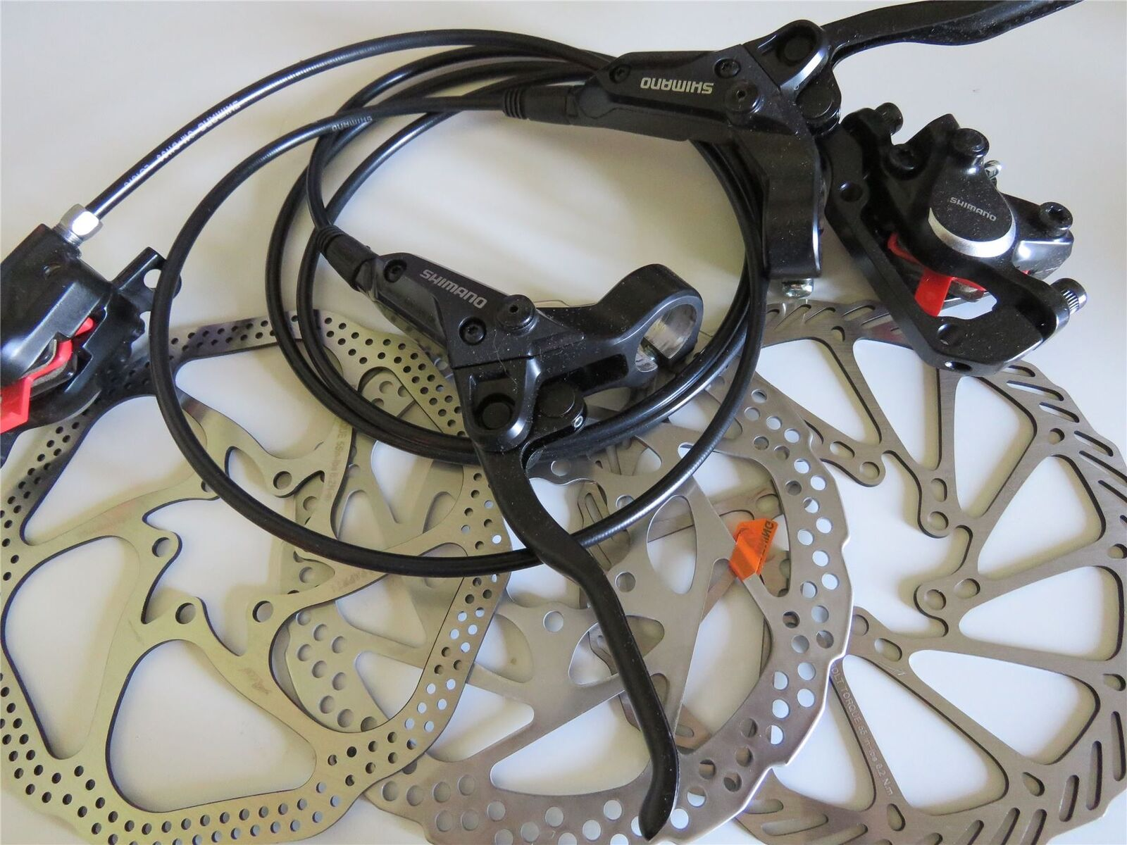 Shimano BR-BL-M315 MTB Hydraulic Disc Brakes Set Pre-Filled With 160mm redors