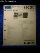 Sony Service Manual ZS 2000 Audio System (#6108)