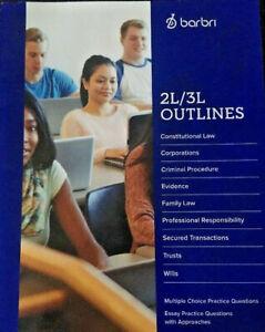 Details about Barbri 2L/3L Outlines Law School Study Guide 2018