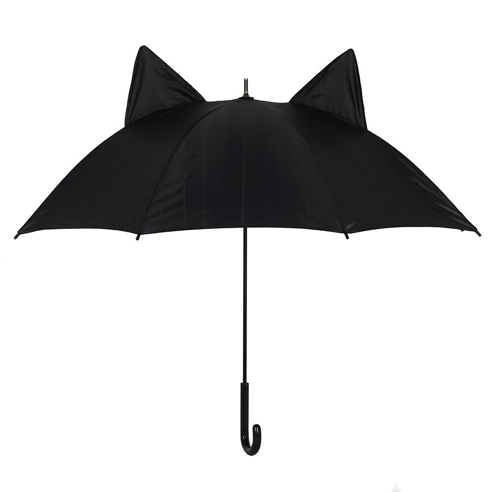 Black Cat Umbrella with ears suitable for witches