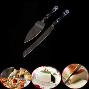 2Pcs-Wedding-Cake-Knife-Server-Set-Stainless-Steel-Anniversary-Parties-Tableware