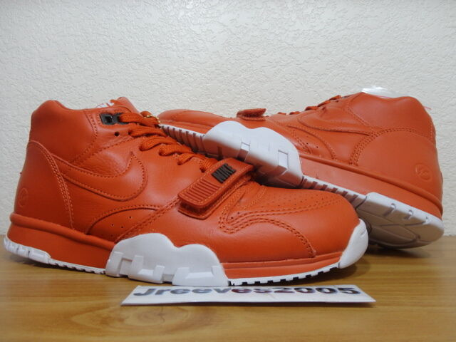 Nike Air 9 Trainer 1 Mid SP fragmento Rust SZ 9 Air 100% authentic retro 0916be