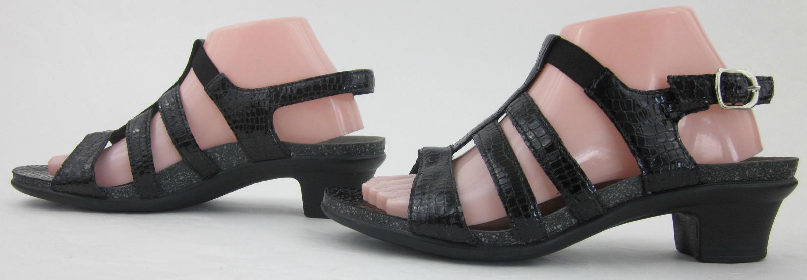 SAS 'Allegro' Tripad Comfort Sandals nero Croc Leather US 10M 10M 10M   MSRP  143 136095