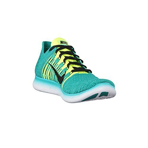 Nike Free Rn Flyknit, Men's size 9.5,10 D ClearJade/Black/RioTeal 831069-303 NEW