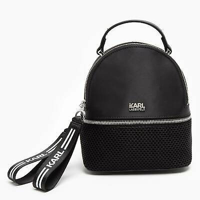 Exclusive Karl Lagerfeld x Falabella Mini Backpack Black Limited Edition
