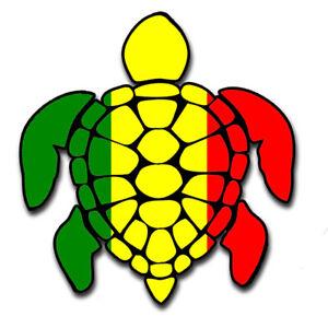 Sea Turtle Rasta Irie Reggae Design Red Yellow Green Hawaii Turtle