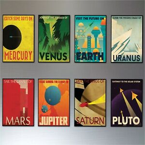 Mid-Century-Space-Travel-Vintage-Retro-Posters-Fridge-Magnets-set-of-8-No-2