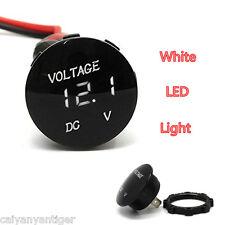 White LED Panel Digital Display Car Motorbike Volt Meters Voltage Gauge Meter