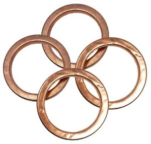 30mm ID  F39 100/% COPPER EXHAUST GASKETS SEAL HEADER GASKET RING 39mm OD