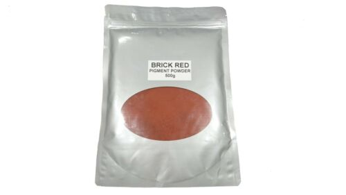 Brick Red Dye Pigment Colour for Concrete,Render,Mortar /& Cement