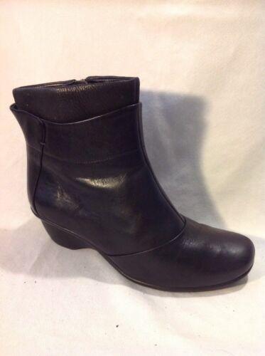 de cuero Botas 5d Clarks el negras tobillo para talla 1wwfq5