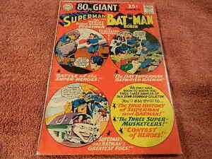 1969 DC Comics 80 PAGE GIANT #15 SUPERMAN & BATMAN w./ JOKER Cover & Story - VG