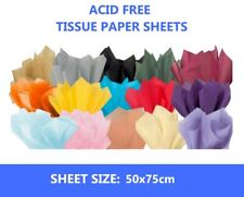 25 Sheets Acid Free Large Tissue Paper 50cmx75cm - 18gsm Gift Wrapping Paper