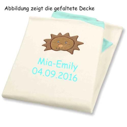 Sterntaler Decke Babydecke mit Namen bestickt 100x75cm Baby Geschenk zur Geburt