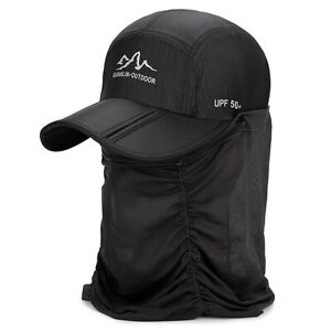 a2f1bfa40fd01 Outdoor UV Protection Sun Hat Fishing Hiking Cap with Face Neck Flap ...