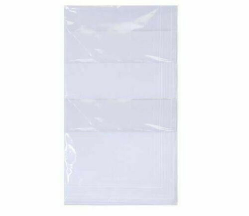 Mens Handkerchief Quality White Cotton Hankies Gift 1 / 3 / 5 / 10 Crisp Cotton