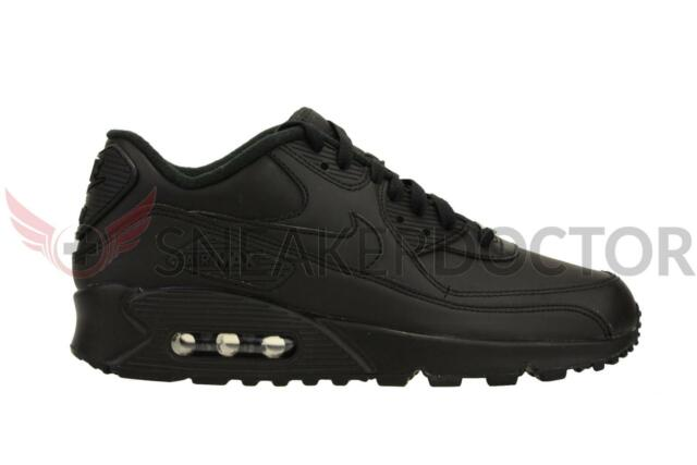 c28f9f98af071 Nike Air Max 90 Leather Mens Style 302519 Color 001 8.5