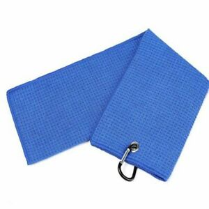 New-Large-Waffle-Microfiber-Golf-Towel-For-Golf-Bag-24-x16-039-039-with-Carabiner-Hook