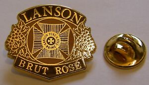CHAMPAGNE-LANSON-BRUT-ROSE-French-Wine-vintage-pin-badge
