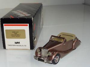 (eb) Western Models En Métal Blanc Jaguar Mkv 1949-wms 41z-afficher Le Titre D'origine En Voyageant