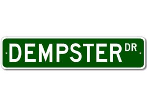 DEMPSTER Street Sign-Personnalisé Nom Signe